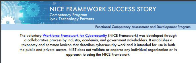 NICE Framework Success Story – Abstract
