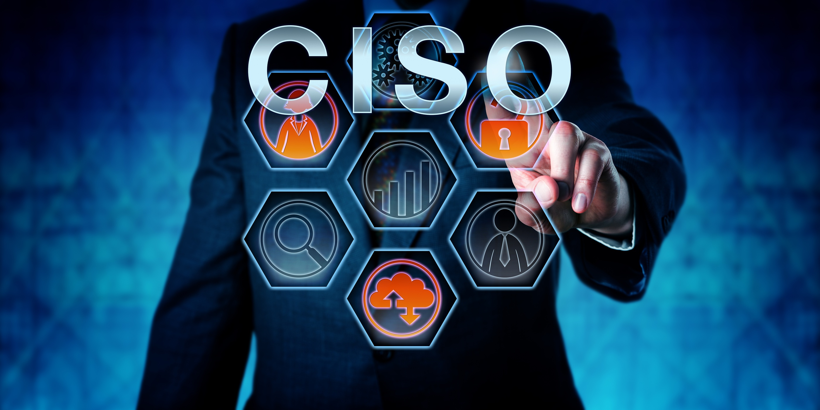 man pointing at technology for CISO tribes